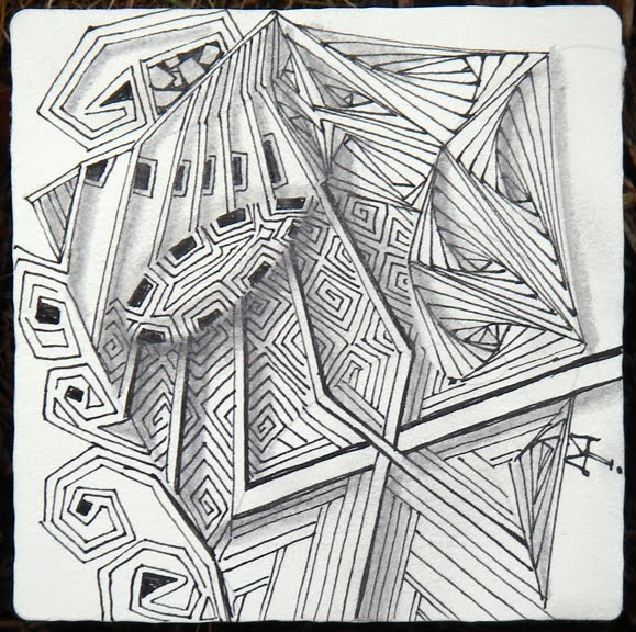 Drawing Using Only Lines : Zentangle elegance of limits
