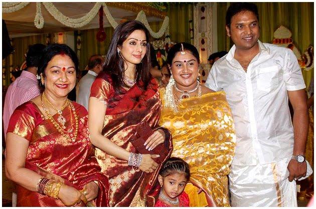Sridevi: Sridevi at Sreedevi's wedding