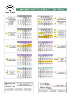 Calendario Escolar Almería 2011-2012