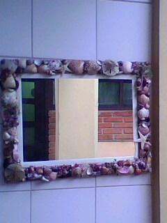 espelho de conchas