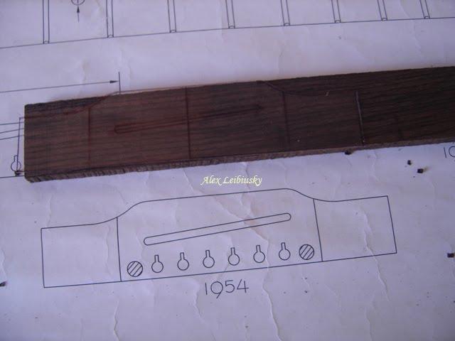 Alex Luthier: Construccion de una guitarra acustica - el Puente #6