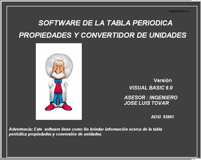 presentacion - Tabla Periodica En Visual Basic