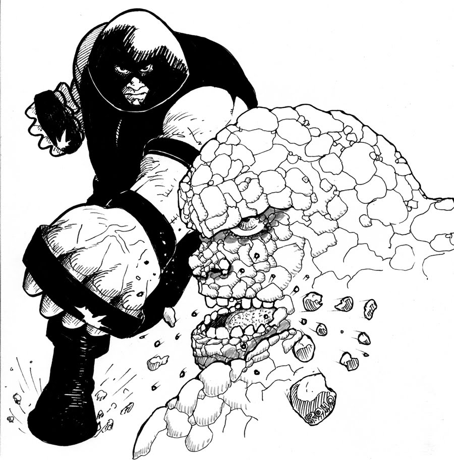River Bird comics: TenTon: Juggernaut vs The Thing