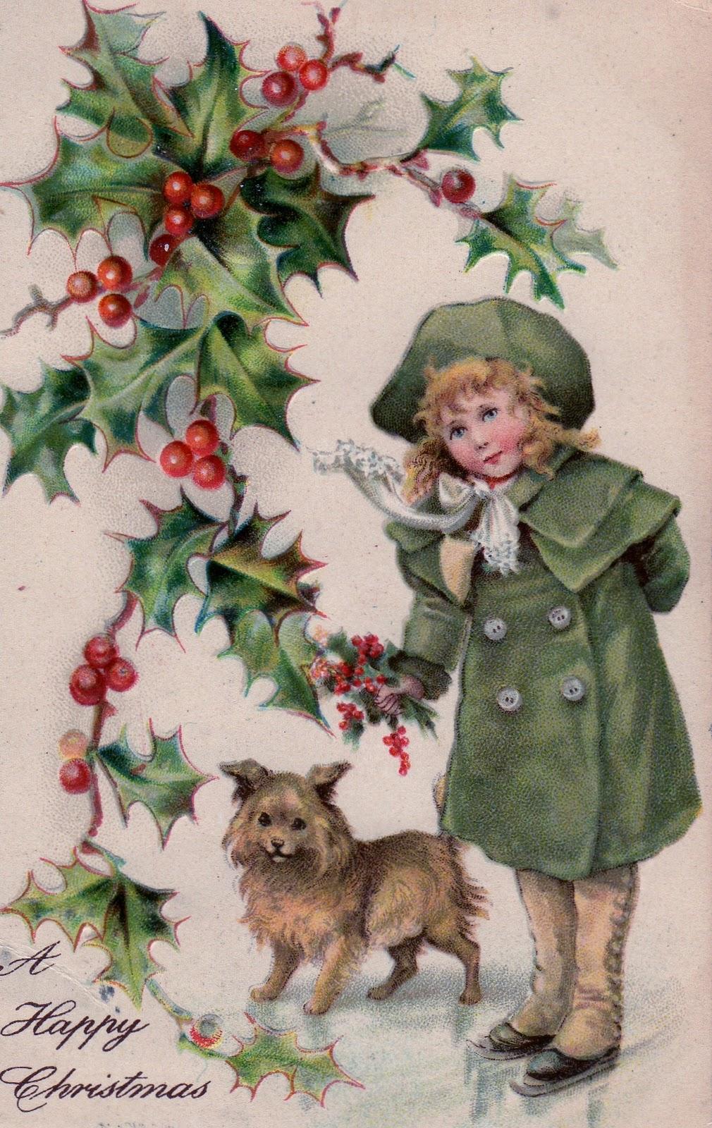 52 FLEA: Vintage Holiday Postcards For You