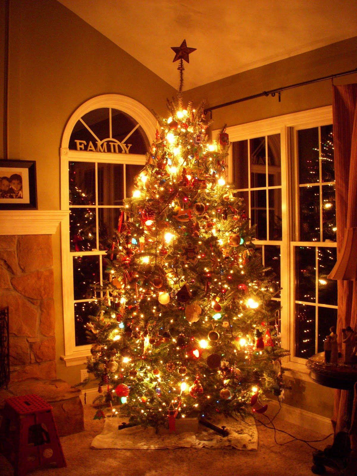 a perfectly lighted christmas tree - Big Indoor Christmas Decorations