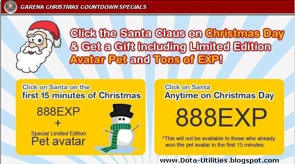 Garena Christmas Countdown Special Event Dota Utilities