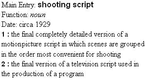 Remember: Shooting text script is a must!