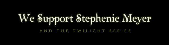 Support Stephenie Meyer