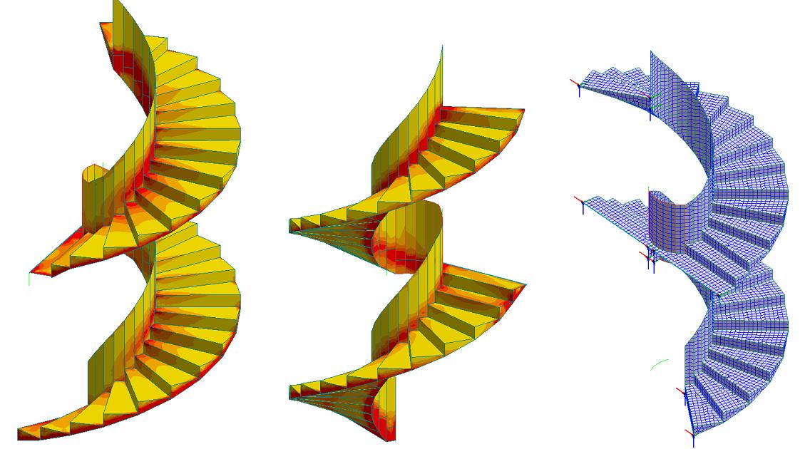 Magnes Revit Structure Familier: Vindeltrapp FEM-modell