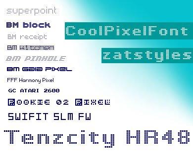 Cool Pixel Font