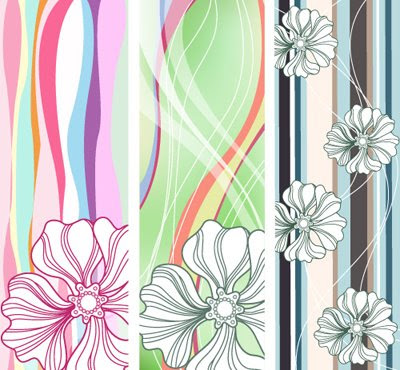 Vertical Flowered Banners