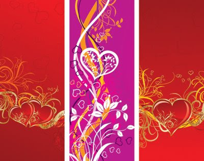 Floral Hearts Banners