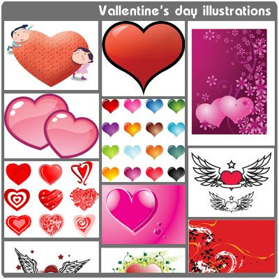Vallentine's day illustrations