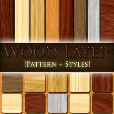 Wood Layer Photoshop Pettern & Styles