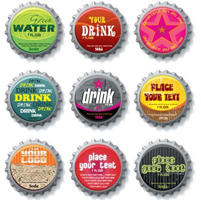 Download Bottle Caps Vector