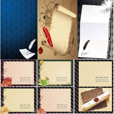 Download Paper Backgrounds Vector
