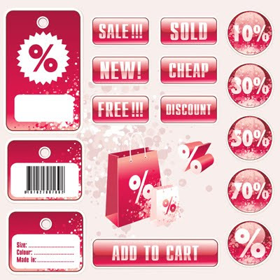 Download Vector Sale Tag Stickers