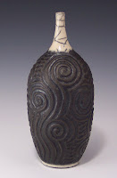Raku Bottle, Anne Webb