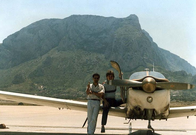 Palermo Punta Raisi Airport, Sicilia in May 1986.