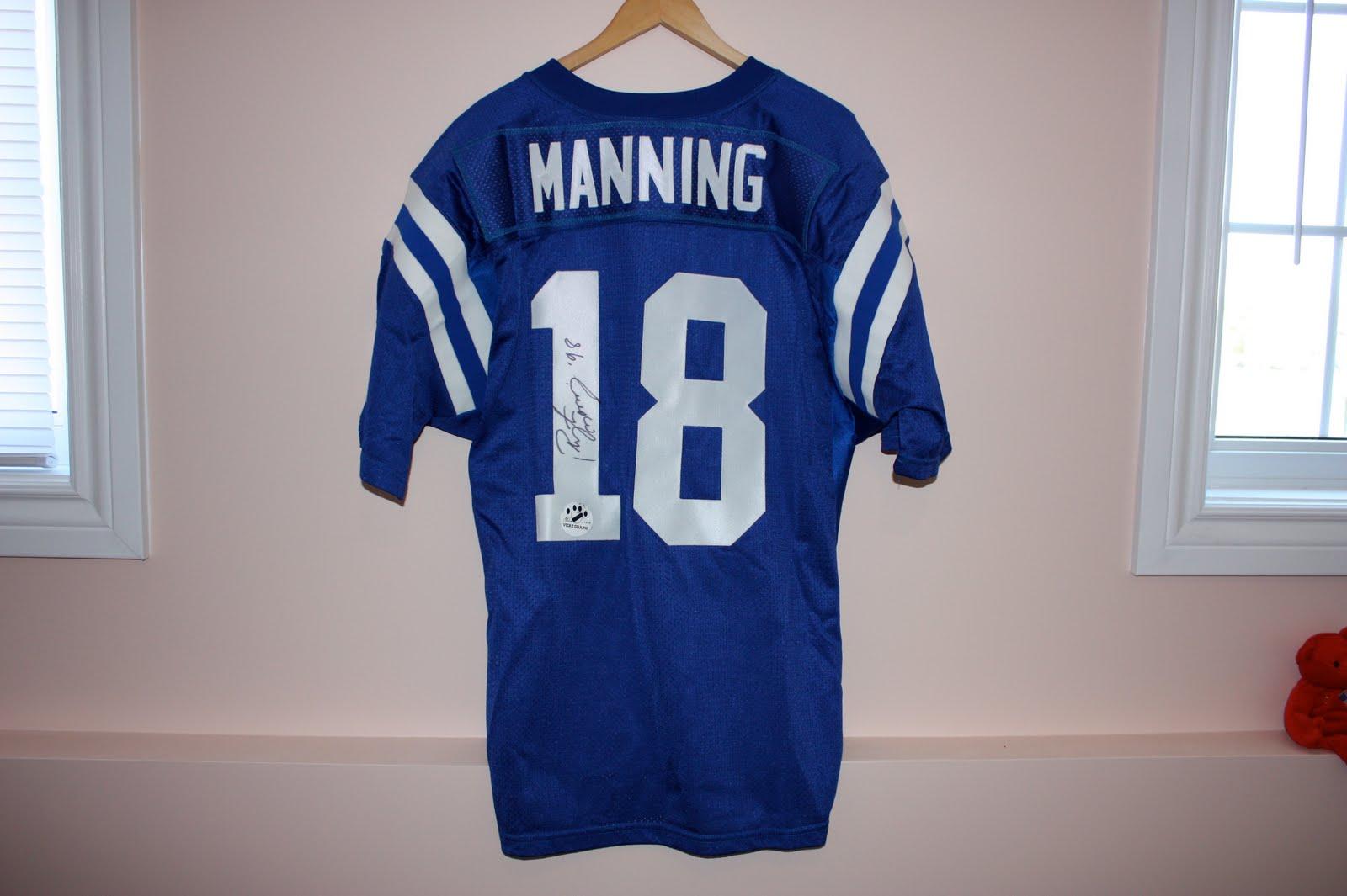 peyton manning signed rookie jersey