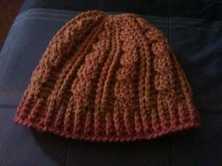 Interweave Cable Celtic Weave Crochet Stitch Slouch Hat