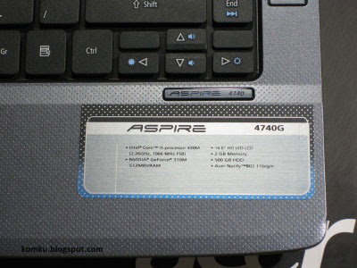 aspire 4740g specs