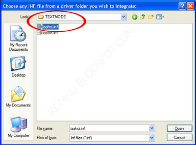 choose any INF file from a driver folder you wish to integrate