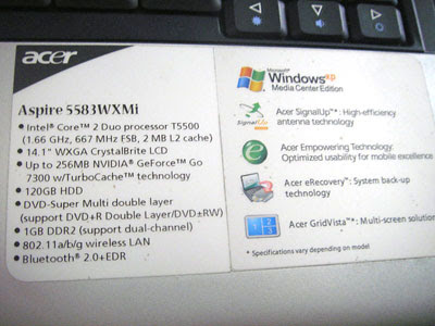 Acer Aspire 5583