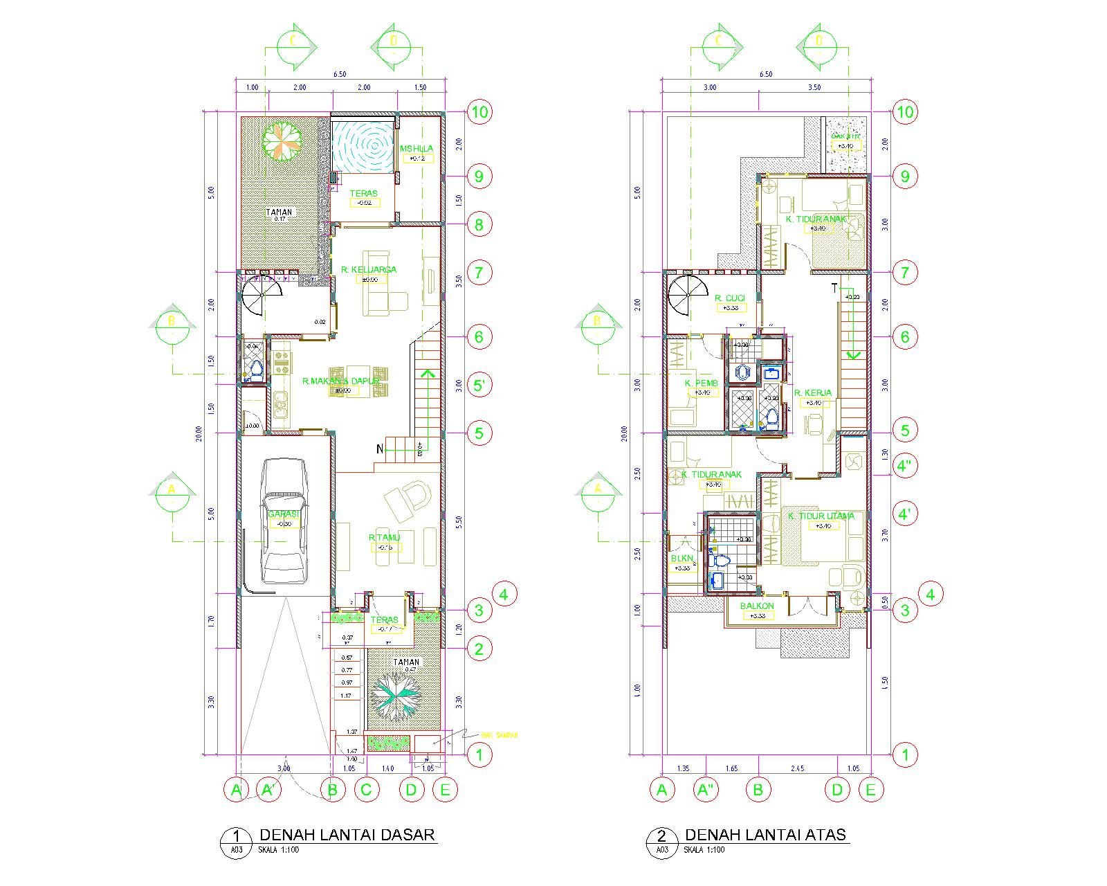Mphudio pertimbangan kami sehingga kami menaikkan elevasi bangunan sekitar 15 m dari permukaan jalan secara garis besar rumah ini terbagi menjadi 2 zona ccuart Gallery