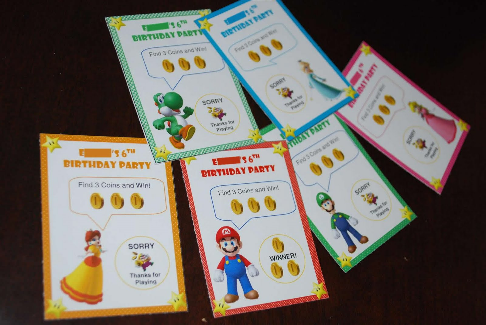craftyc0rn3r Super Mario Birthday Implementation – Super Mario Bros Valentine Cards