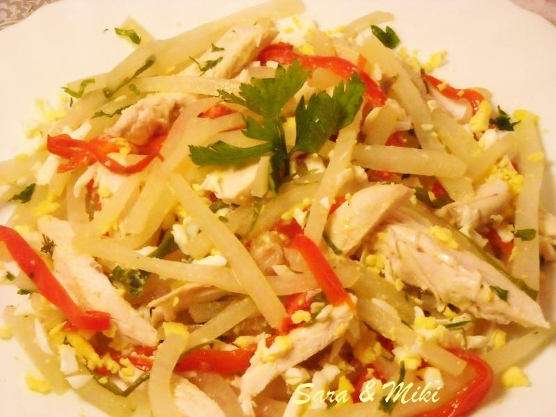 Les plats roumaines salade de choux raves au poitrine de - Cuisiner le choux rave ...