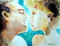 [watercolor+kiss]