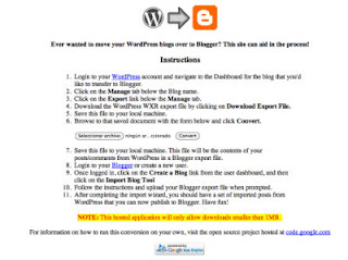 Pasar de WordPress a blogger