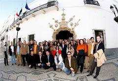 Primera foto de la Plaza de la Cordialidad en Olivenza