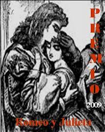 PREMIO ROMEO Y JULIETA 2009 QUE ME OTORGA AUNOA  Y MAJUCARMEN