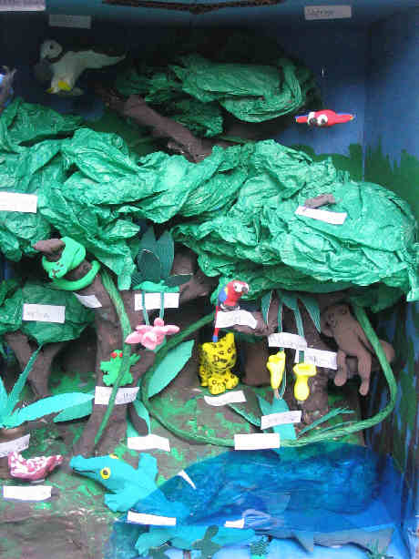 Example of Rain Forest Diorama http://jeaninallhonesty.blogspot.com/2007/12/genesis-of-rainforest.html
