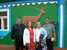 Eric, Stephanie, Sheryl & Skip @ church in the village.