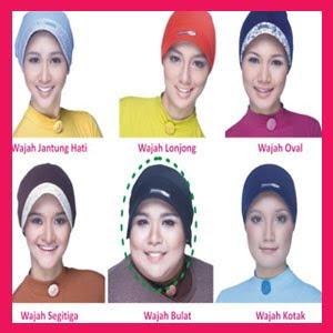 sebagai contoh penggunaan dalaman jilbab untuk bentuk wajah bulat