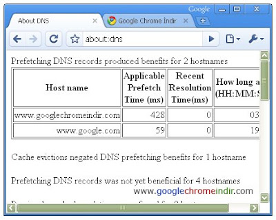 Google Chrome DNS
