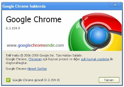 Google Chrome Güncel