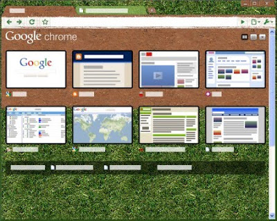 Google Chrome Baseball Tema