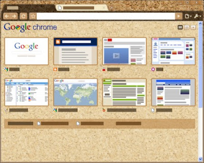 Google Chrome Corkboard Tema