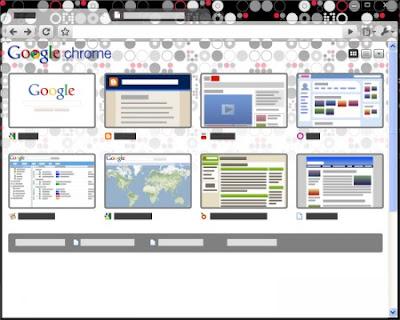 Google Chrome Dots Tema