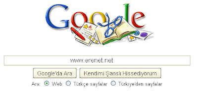 Google 24 Kasim Öğretmenler Günü Logosu Görüntüsü