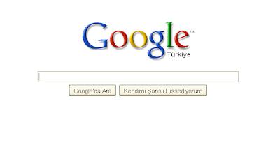 Google sade giriş sayfası