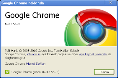 Google Chrome 6.0.472.25