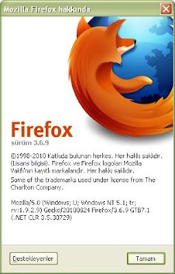 Firefox 3.6.9 Güncelleme