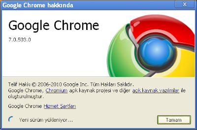 Google Chrome 7 Güncelleme
