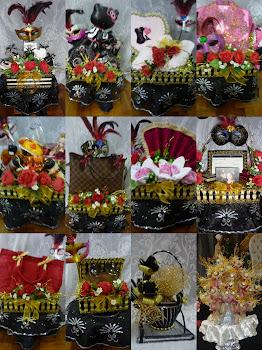 Gubahan (Black, Gold & Mask)