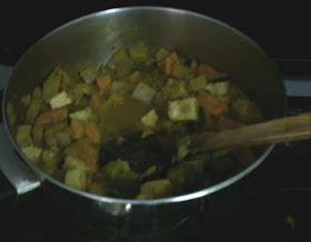 watermelon rind seitan curry